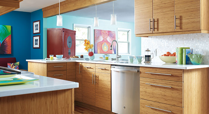 Modern Kitchen with Bamboo Cabinetry - MasterBrand