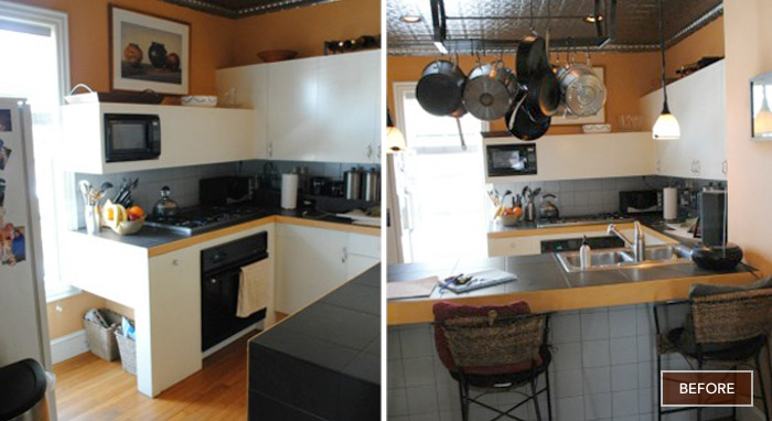 Amy's kitchen before the makeover>