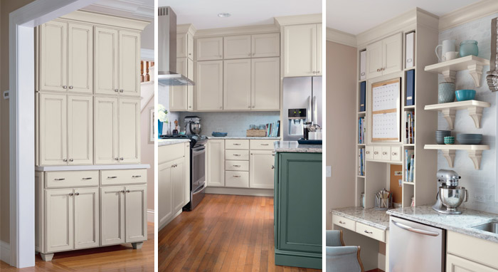 Images of kitchen makeover with Diamond cabinets in Maple Dover