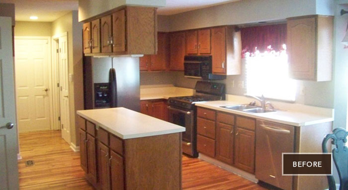 Outdated kitchen before being remodeled