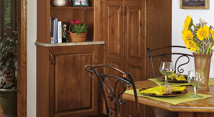 Traditional kitchen makeover with Rustic Birch cabinetry>