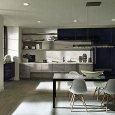A kitchen featuring horizontal orientation cabinetry