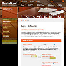 MasterBrand's renovation budget calculator tool