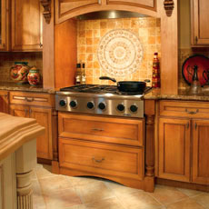 Decora kitchen cabinets with a stovetop