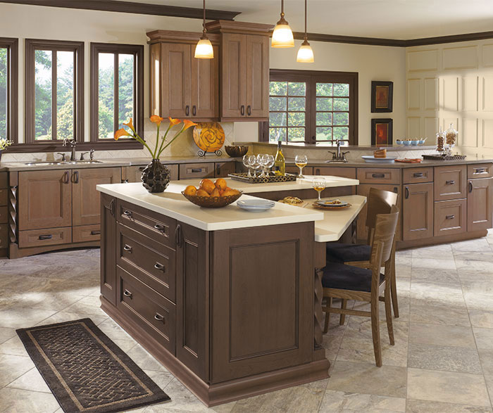... Laroche Kitchen With Cherry Cabinets In Riverbed Finish ...