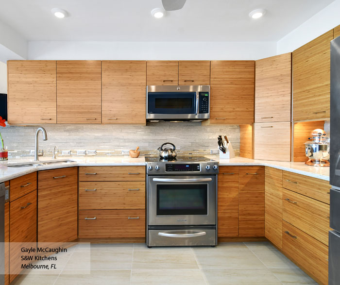Natural Bamboo Kitchen Cabinets