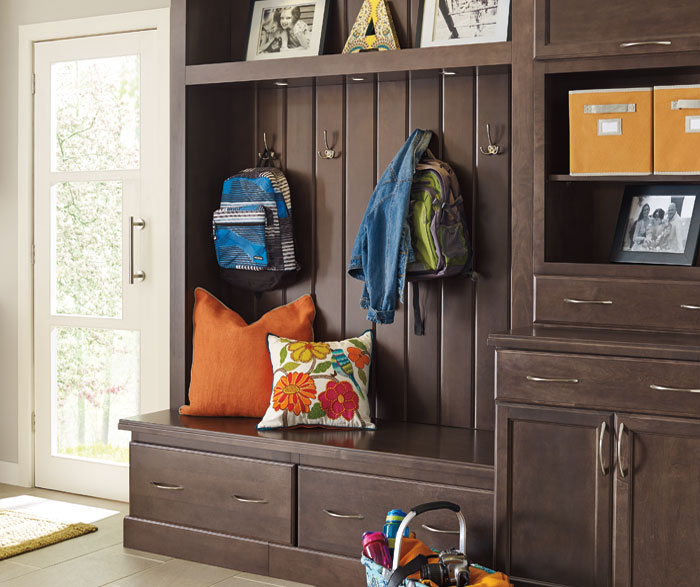 Entry cabinets by Schrock Cabinetry