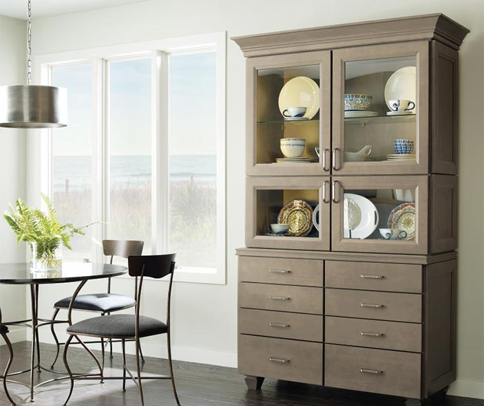 Kennedy dining room cabinet in Maple Seal finish