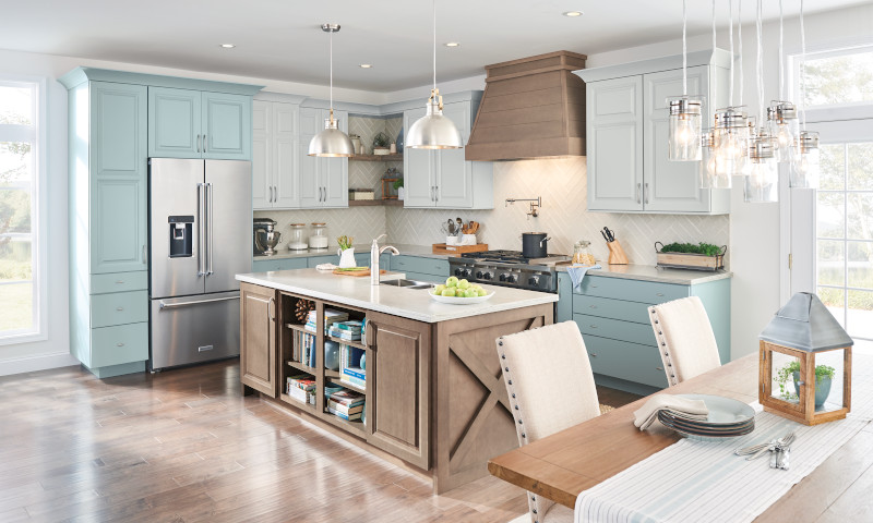 Brighten the space by adding bright colors in your next kitchen update.