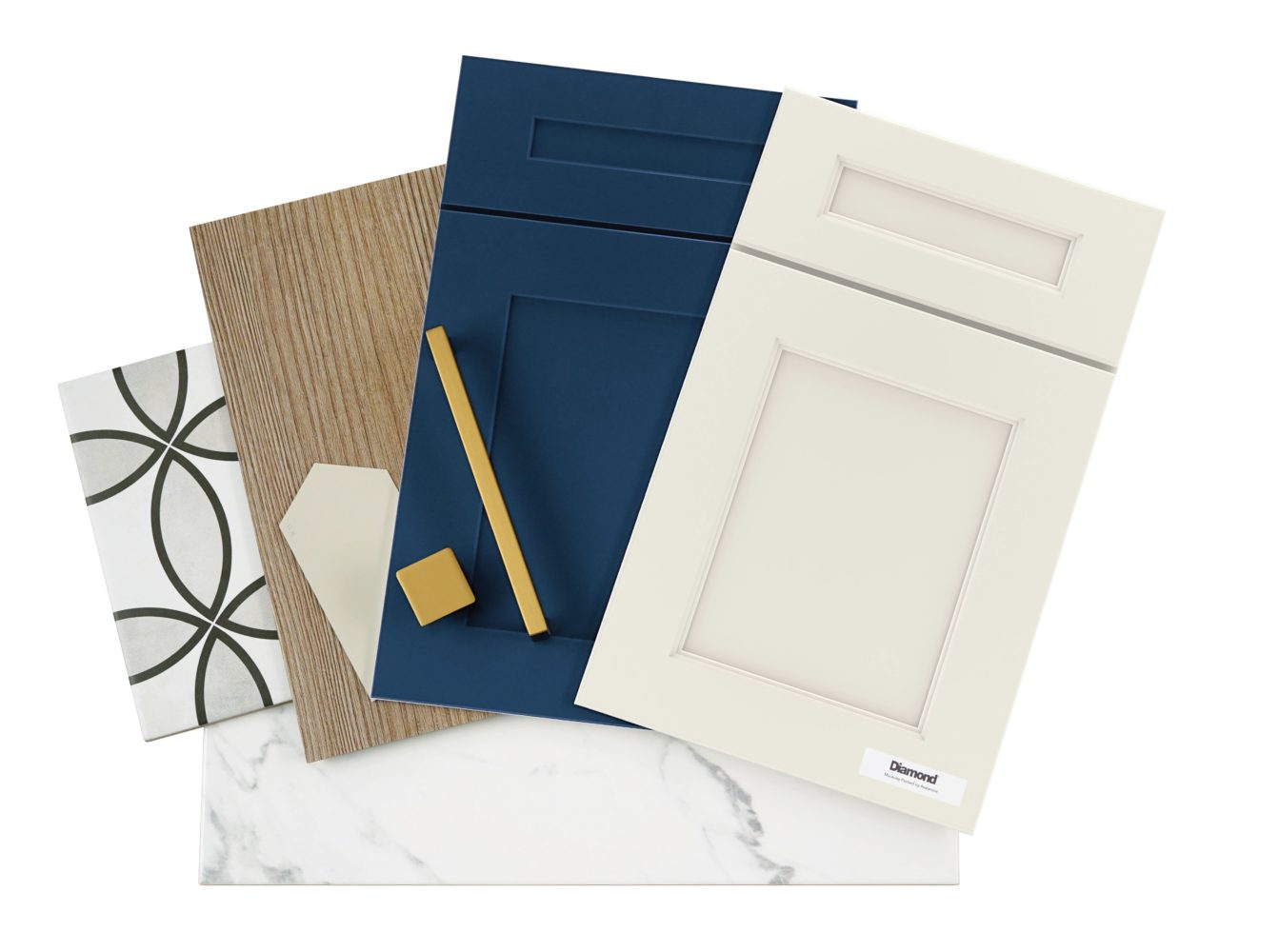 Naval Finish by Diamond Cabinets - Classic Blue Kitchen Cabinets
