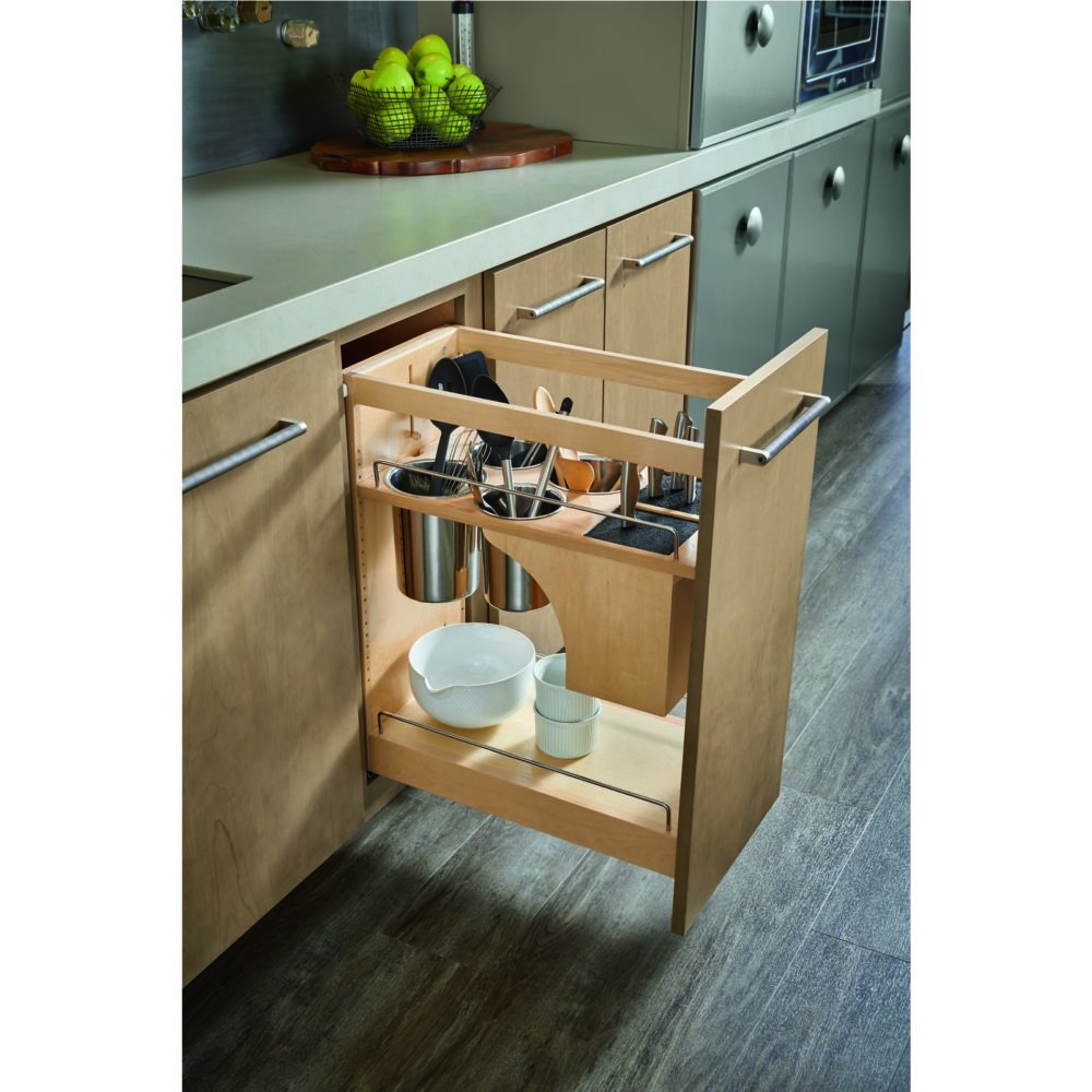 Must-Have Storage Pull Out Knife Block and Utensil Holder