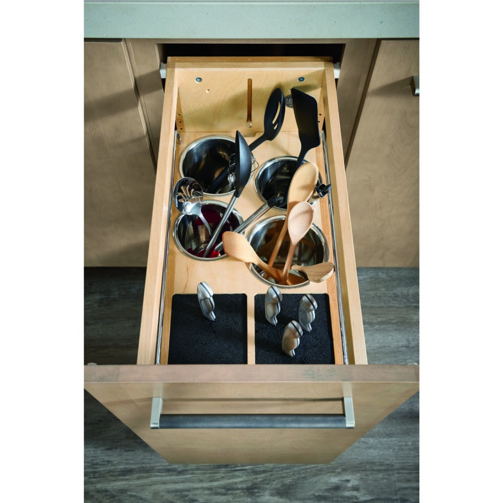 Must-Have Storage- Pull Out Knife Block and Utensil Holder