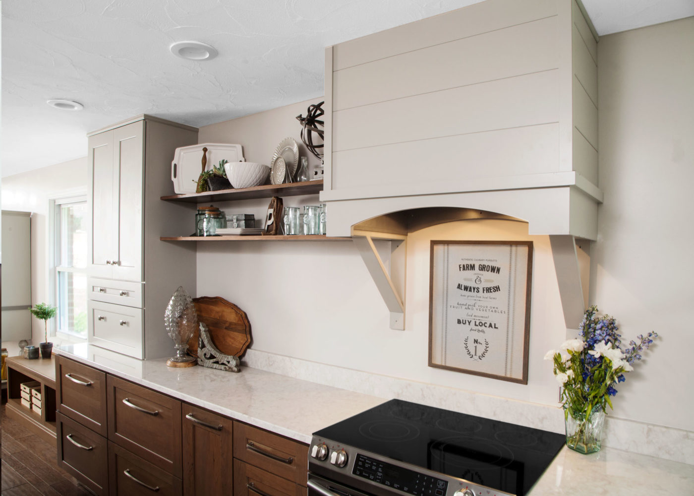 Floating Shelves are a must-have kitchen feature.