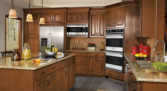 rustic birch kitchen cabinets kitchen makeover adds plenty of storage masterbrand 25729