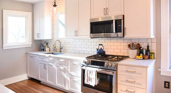 small white kitchen cabinets small kitchen renovation masterbrand cabinets 26418