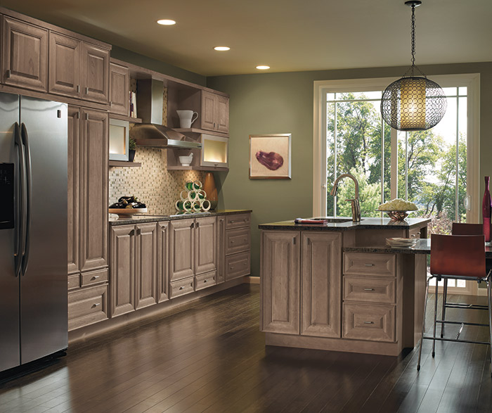Light Cherry cabinets in a casual kitchen