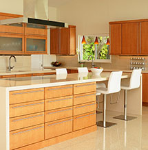 Modern open kitchen design with Omega cabinets
